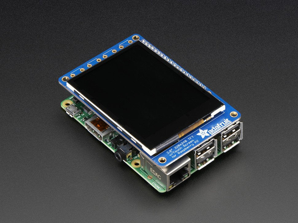 "PiTFT Plus 320x240 2.8"" TFT + Capacitive Touchscreen Mini Kit - Pi 2 and Model A+ / B+ - Chicago Electronic Distributors  - 6"