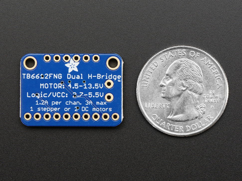 Adafruit TB6612 1.2A DC/Stepper Motor Driver Breakout Board - Chicago Electronic Distributors  - 3