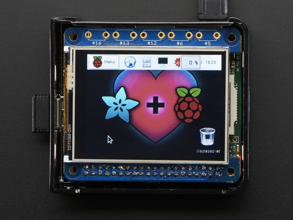 "Adafruit PiTFT 2.4"" HAT Mini Kit - 320x240 TFT Touchscreen - Chicago Electronic Distributors  - 12"