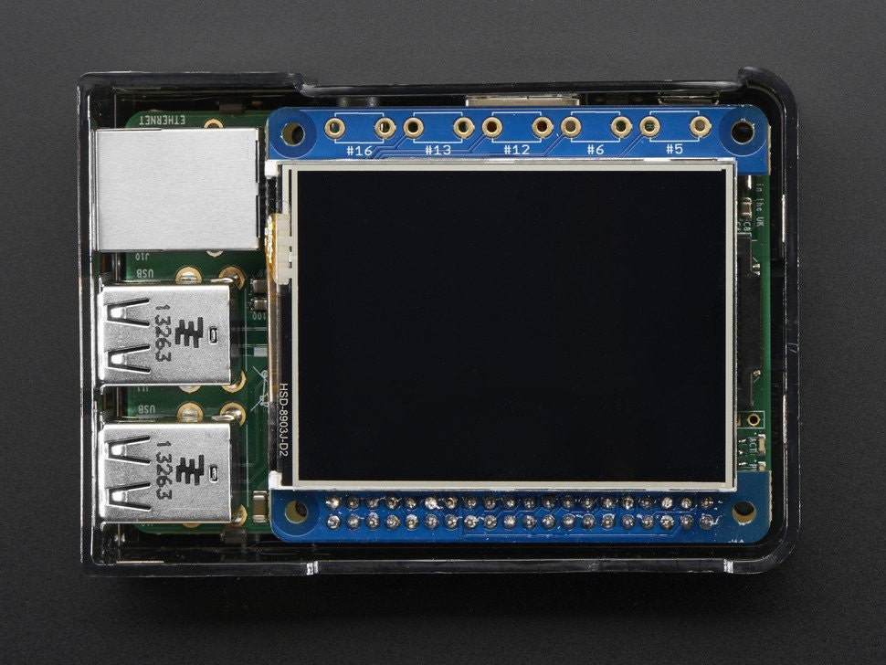 "Adafruit PiTFT 2.4"" HAT Mini Kit - 320x240 TFT Touchscreen - Chicago Electronic Distributors  - 8"