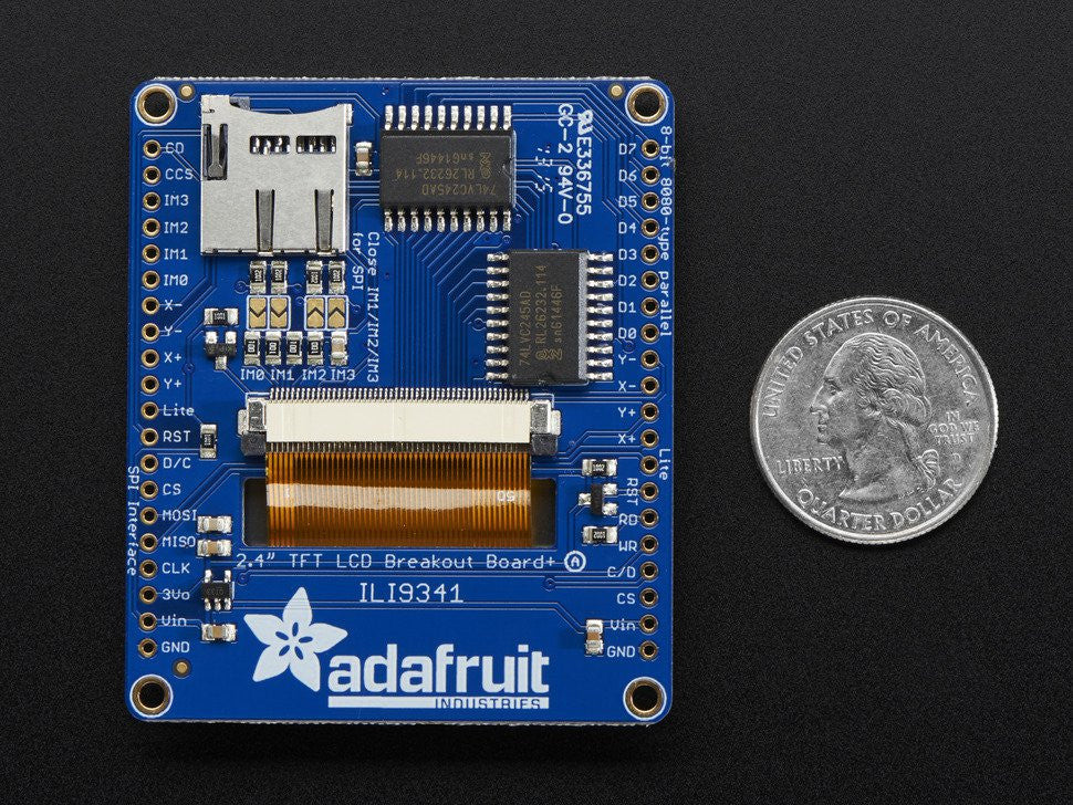 "Adafruit 2.4"" TFT LCD with Touchscreen Breakout w/MicroSD Socket - ILI9341 - Chicago Electronic Distributors  - 4"