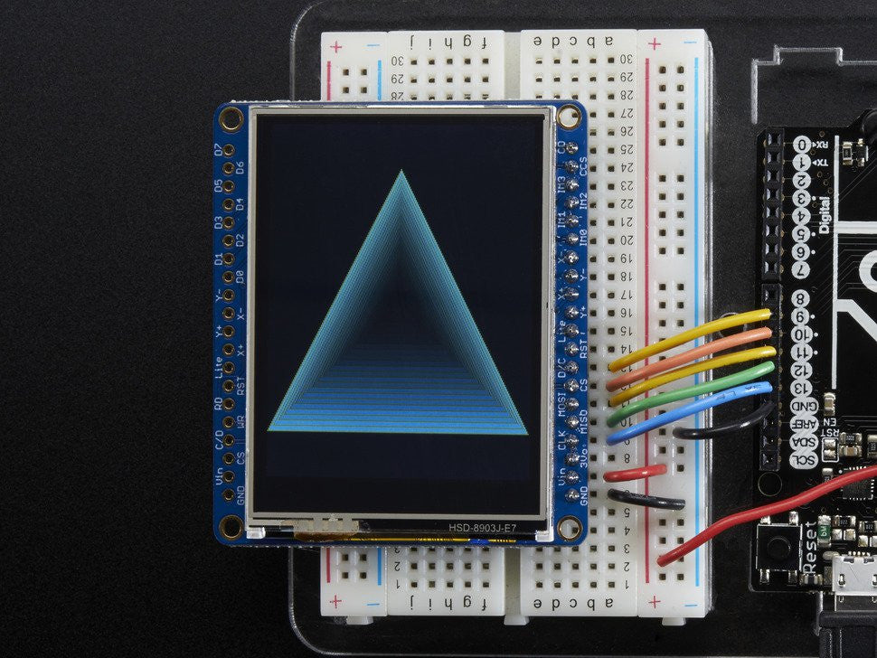 "Adafruit 2.4"" TFT LCD with Touchscreen Breakout w/MicroSD Socket - ILI9341 - Chicago Electronic Distributors  - 6"