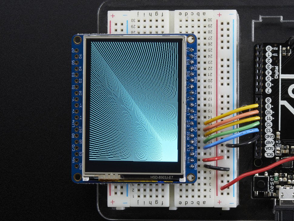 "Adafruit 2.4"" TFT LCD with Touchscreen Breakout w/MicroSD Socket - ILI9341 - Chicago Electronic Distributors  - 7"