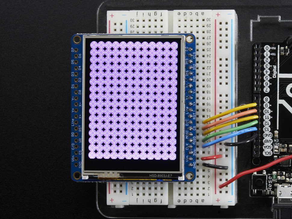 "Adafruit 2.4"" TFT LCD with Touchscreen Breakout w/MicroSD Socket - ILI9341 - Chicago Electronic Distributors  - 8"