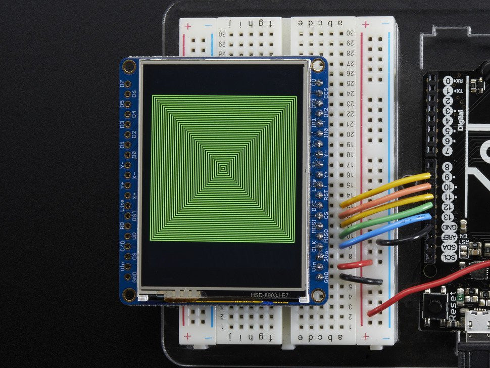 "Adafruit 2.4"" TFT LCD with Touchscreen Breakout w/MicroSD Socket - ILI9341 - Chicago Electronic Distributors  - 9"