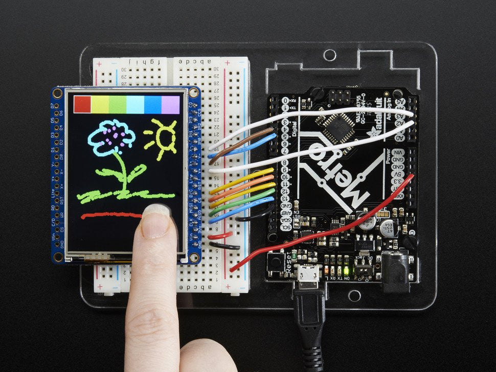 "Adafruit 2.4"" TFT LCD with Touchscreen Breakout w/MicroSD Socket - ILI9341 - Chicago Electronic Distributors  - 1"