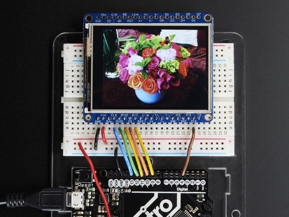 "Adafruit 2.4"" TFT LCD with Touchscreen Breakout w/MicroSD Socket - ILI9341 - Chicago Electronic Distributors  - 2"
