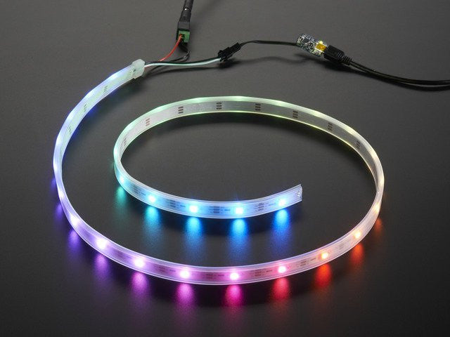 Adafruit NeoPixel LED Strip Starter Pack - 30 LED meter - White - Chicago Electronic Distributors