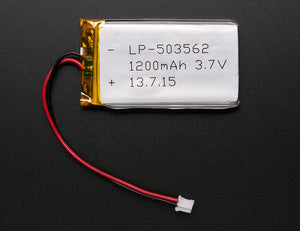 Lithium Ion Polymer Battery - 3.7v 1200mAh - Chicago Electronic Distributors  - 1
