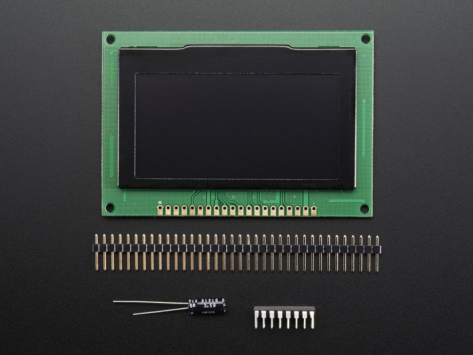 "Monochrome 2.7"" 128x64 OLED Graphic Display Module Kit - Chicago Electronic Distributors  - 8"