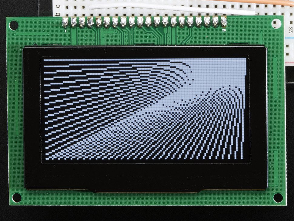 "Monochrome 2.7"" 128x64 OLED Graphic Display Module Kit - Chicago Electronic Distributors  - 5"
