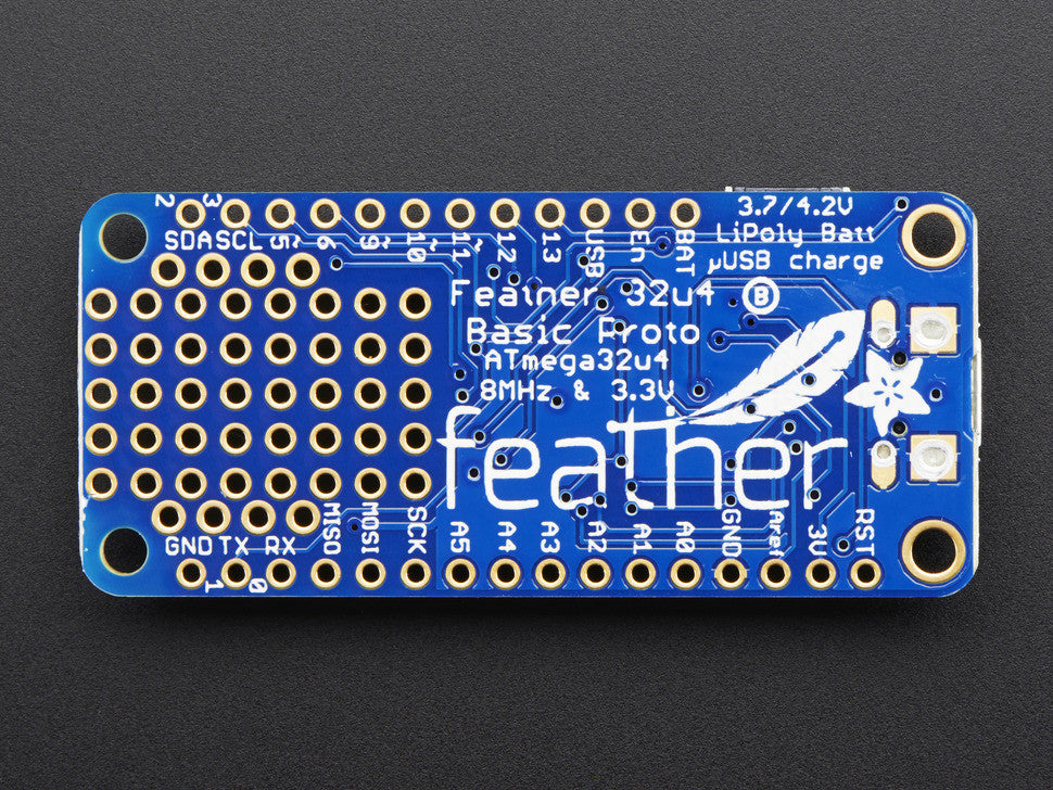 Adafruit Feather 32u4 Basic Proto - Chicago Electronic Distributors  - 4