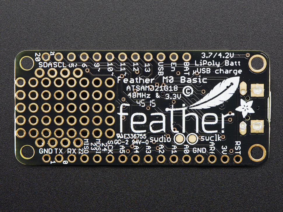 Adafruit Feather M0 Basic Proto - ATSAMD21 Cortex M0 - Chicago Electronic Distributors  - 2