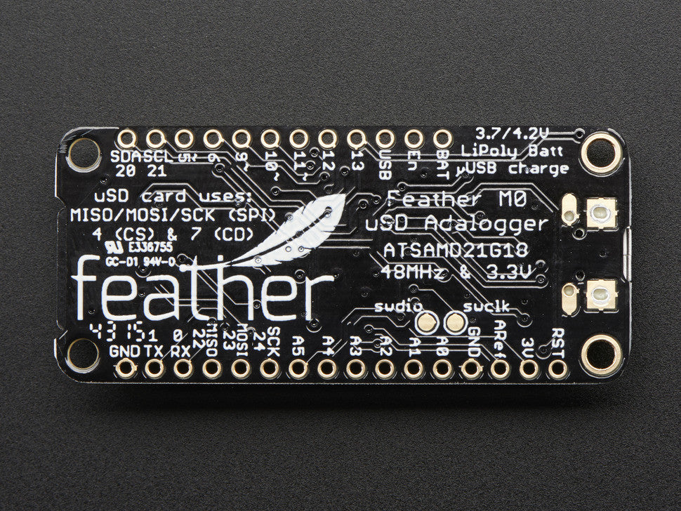 Adafruit Feather M0 Adalogger - Chicago Electronic Distributors  - 2