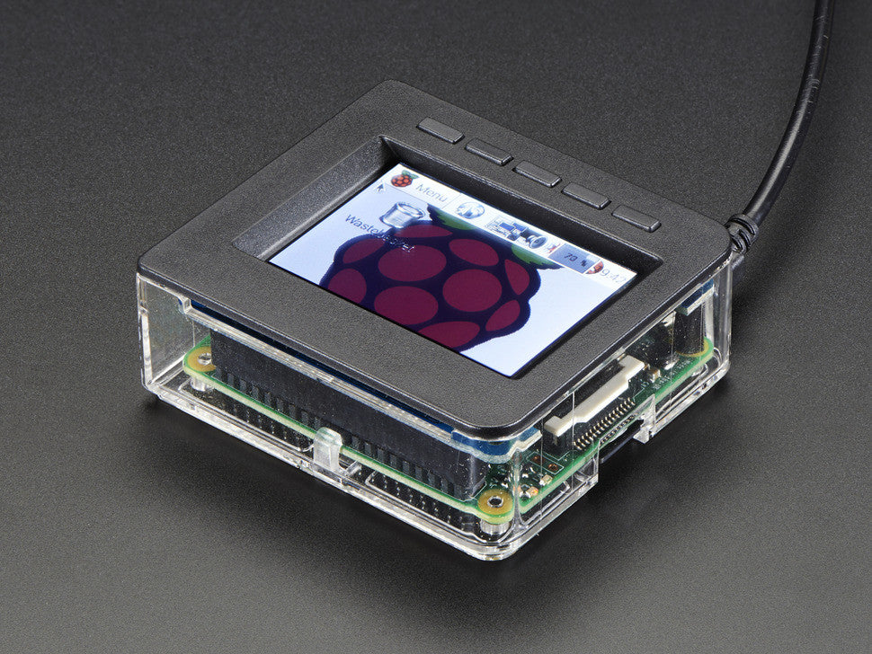 "Faceplate and Buttons Pack for 2.4"" PiTFT HAT - Raspberry Pi A+ - Chicago Electronic Distributors  - 2"