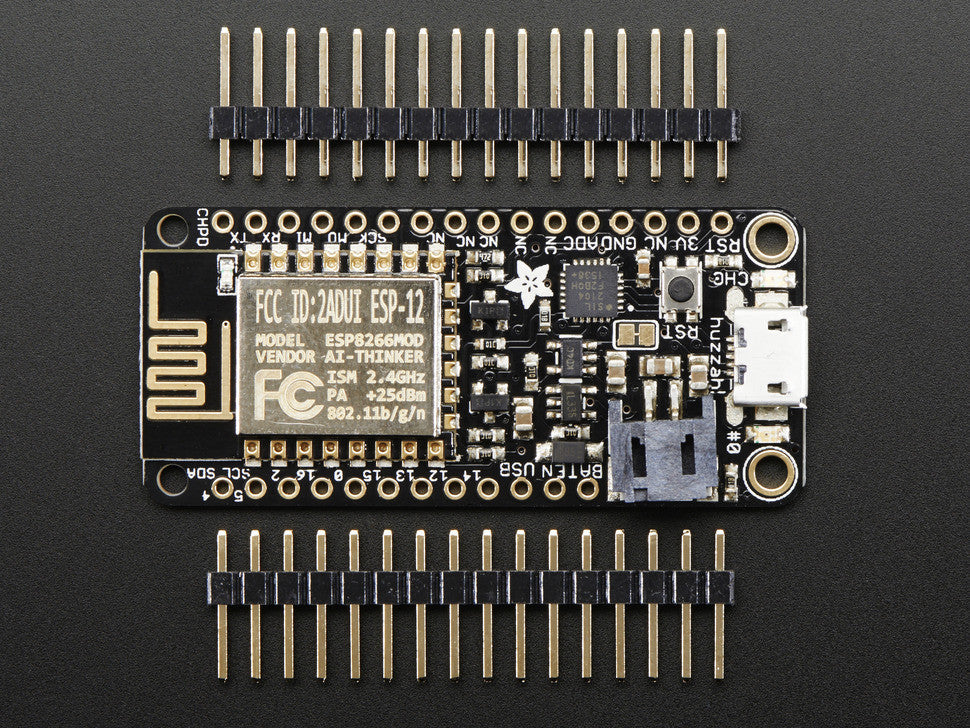 Adafruit Feather HUZZAH with ESP8266 WiFi - Chicago Electronic Distributors  - 3