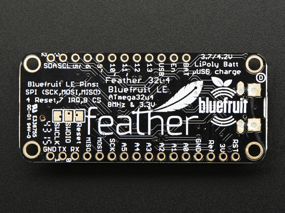 Adafruit Feather 32u4 Bluefruit LE - Chicago Electronic Distributors  - 6