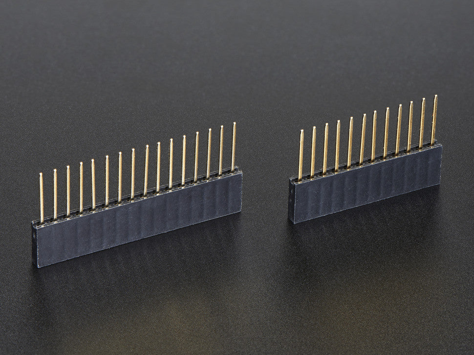 Feather Stacking Headers - 12-pin and 16-pin female headers - Chicago Electronic Distributors  - 1