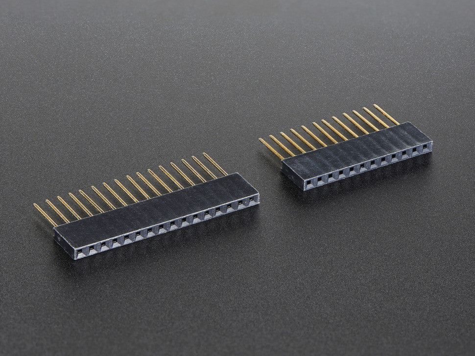 Feather Stacking Headers - 12-pin and 16-pin female headers - Chicago Electronic Distributors  - 3