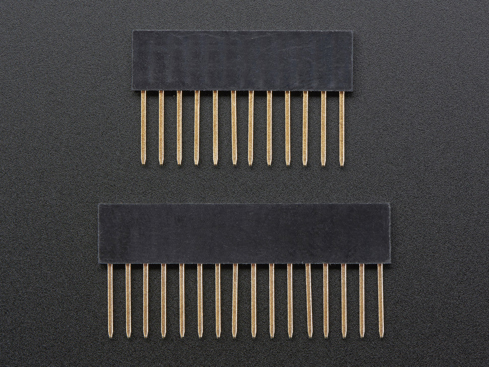 Feather Stacking Headers - 12-pin and 16-pin female headers - Chicago Electronic Distributors  - 7