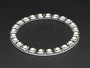NeoPixel Ring - 24 x 5050 RGBW LEDs w/ Integrated Drivers - Natural White - ~4500K - Chicago Electronic Distributors  - 4
