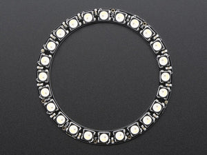 NeoPixel Ring - 24 x 5050 RGBW LEDs w/ Integrated Drivers - Natural White - ~4500K - Chicago Electronic Distributors  - 3