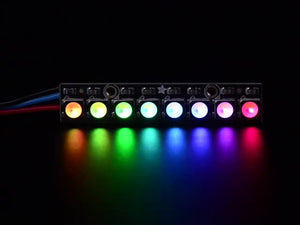 NeoPixel Stick - 8 x 5050 RGBW LEDs - Warm White - ~3000K - Chicago Electronic Distributors