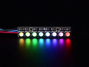 NeoPixel Stick - 8 x 5050 RGBW LEDs - Cool White - ~6000K - Chicago Electronic Distributors