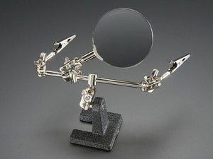 Helping Third Hand Magnifier W/Magnifying Glass Tool - Chicago Electronic Distributors
