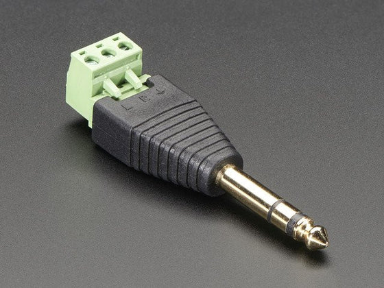 "1/4"" (6.35mm) Stereo Plug Terminal Block - Chicago Electronic Distributors"