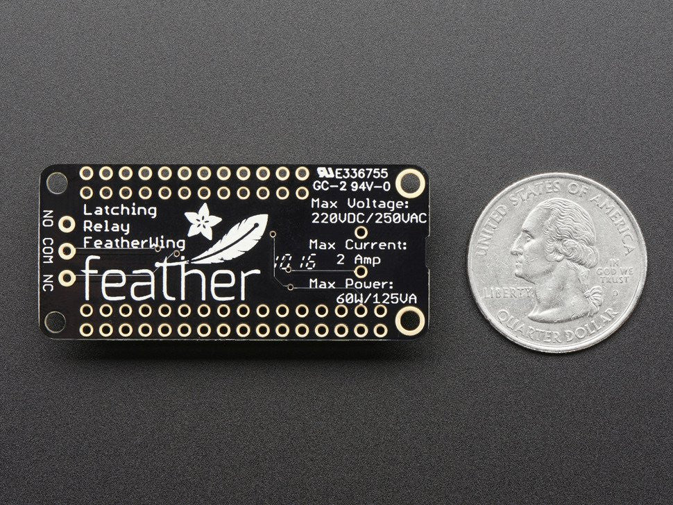 Adafruit Latching Mini Relay FeatherWing - Chicago Electronic Distributors  - 2