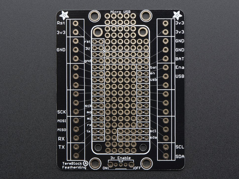 Terminal Block Breakout FeatherWing Kit for all Feather Boards - Chicago Electronic Distributors  - 5