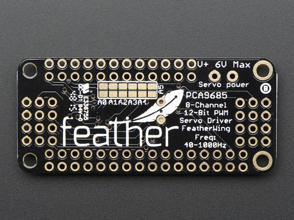 8-Channel PWM or Servo FeatherWing Add-on For All Feather Boards - Chicago Electronic Distributors  - 2