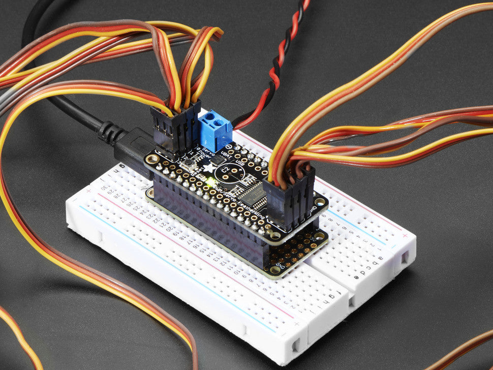 8-Channel PWM or Servo FeatherWing Add-on For All Feather Boards - Chicago Electronic Distributors  - 4