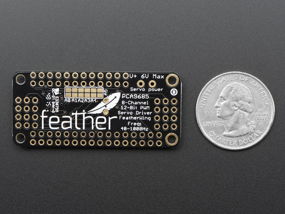 8-Channel PWM or Servo FeatherWing Add-on For All Feather Boards - Chicago Electronic Distributors  - 6