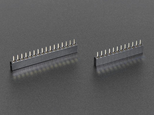 Short Feather Headers Kit - 12-pin and 16-pin Female Header Set - Chicago Electronic Distributors