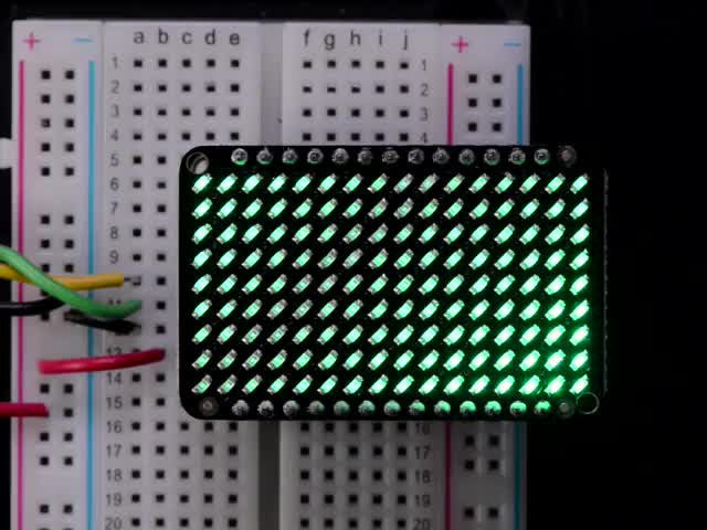 LED Charlieplexed Matrix - 9x16 LEDs - Green - Chicago Electronic Distributors