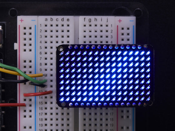 LED Charlieplexed Matrix - 9x16 LEDs - Blue - Chicago Electronic Distributors  - 1