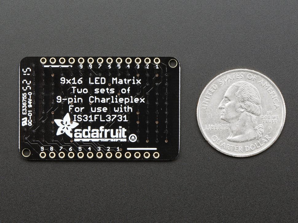 LED Charlieplexed Matrix - 9x16 LEDs - Blue - Chicago Electronic Distributors  - 2