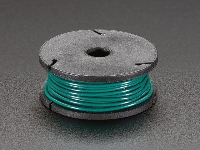 Solid-Core Wire Spool - 25ft - 22AWG - Green - Chicago Electronic Distributors