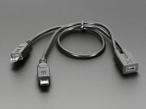 Micro B USB 2-Way Y Splitter Cable - Chicago Electronic Distributors