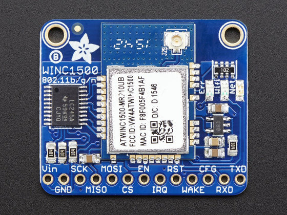 Adafruit ATWINC1500 WiFi Breakout with uFL Connector - fw 19.4.4 - Chicago Electronic Distributors  - 1