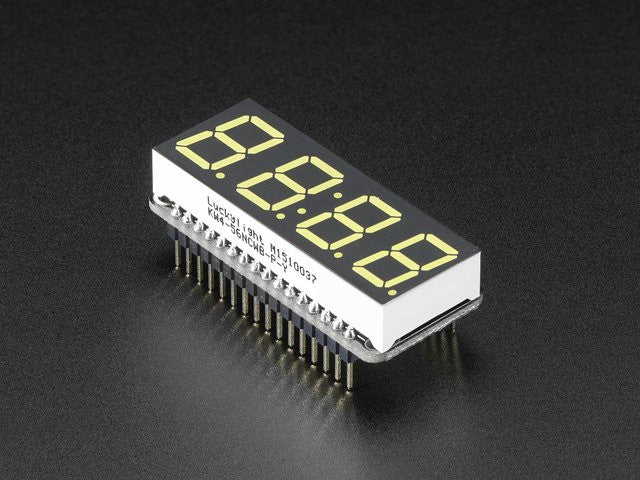 "Adafruit 0.56"" 4-Digit 7-Segment Display w/ FeatherWing - White - Chicago Electronic Distributors"