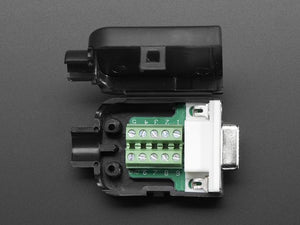 DE-9 (DB-9) Female Socket Connector to Terminal Block Breakout - Chicago Electronic Distributors
