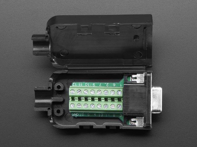 DE-15 (DB-15) Female Socket to Terminal Block Breakout - Chicago Electronic Distributors