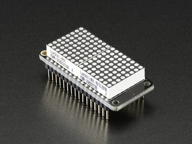 "Adafruit 0.8"" 8x16 LED Matrix FeatherWing Display Kit - Green - Chicago Electronic Distributors"