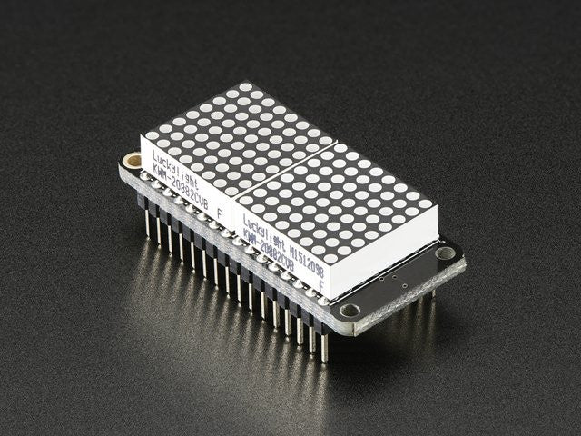 "Adafruit 0.8"" 8x16 LED Matrix FeatherWing Display - Red - Chicago Electronic Distributors"
