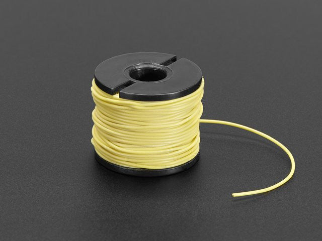 Silicone Cover Stranded-Core Wire - 50ft 30AWG Yellow - Chicago Electronic Distributors