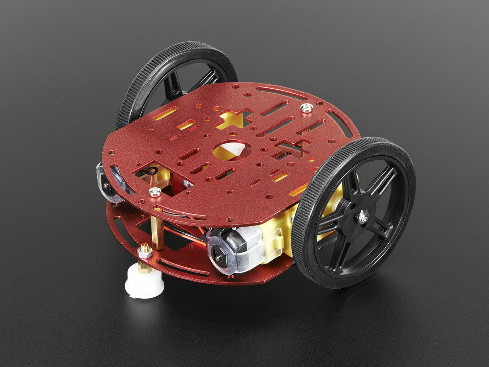 Mini Round Robot Chassis Kit - 2WD with DC Motors
