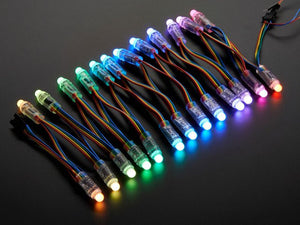 12mm  Diffused Thin Digital RGB LED Pixels (Strand of 25) - Chicago Electronic Distributors